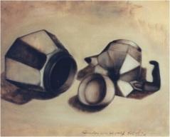 Kaffeemaschine in drei Teile zerlegt_cm. 60x80_oil on canvas_2003