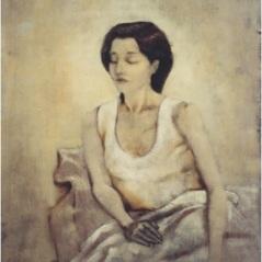 Le note di Tsabropoulos_oil on canvas_cm. 60x80_2003