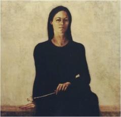 Ritratto di Elena_oil on canvas_cm. 100x100_2003