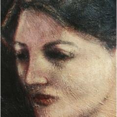 Ritratto di Olja_oil on canvas_cm. 77x48_1999_Belgrade, Serbia_Private Collection
