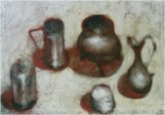 Stilleben (die rote Schatten)_cm. 100x70_oil on canvas_2001