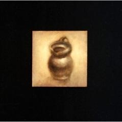 Stilleben_oil on paper_cm. 9x9_2001